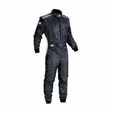 TUTA IGNIFUGA TOP ULTRALEGGERA NERA OMP RACING ONE-S SUIT IA01837 FIA 8856-2000