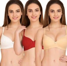 3 Pcs.Pack Of Branded Lakme Seamless Padded Bra With Trasparent straps option