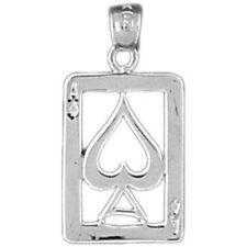 Silver 925 Playing Cards, Ace Of Spades Pendant - AZ5451-925
