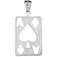 Silver 925 Playing Cards, Ace Of Spades Pendant - AZ5475-925