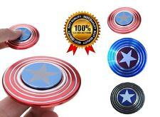 Captain America Shield Hand Spinner Toy Fidget EDC Focus ADHD Autism For Kids UK