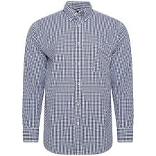Churchill by Harvey Parker Mens 100% Pure Cotton Long Sleeve Gingham Check Shirt
