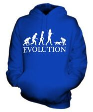 RAGAZZA CON CANE Evolution of Man Unisex FELPA CON CAPPUCCIO UOMO DONNA REGALO