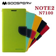 Mercury Fancy Leather Case Flip Cover For Samsung Galaxy Note II 7100 Note 2