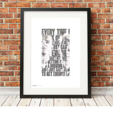 DEPECHE MODE ❤ Just can't get enough ❤ song lyric poster art Print in 5 sizes #6