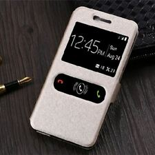 Case For ZTE Blade X3 Case Window View Phone Leather Flip Cover A452 X3 D2 T620