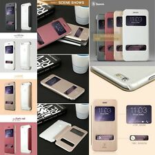 """Apple iPhone 6 4.7"""" Flip Cover Baseus Mile Series Leather Flip Cover Window View"""