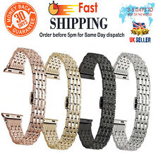 NEW Fashion Stainless Steel Rhinestone Strap for Apple Watch  1 2 3 38 42mm