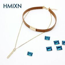 Fashion Velvet Choker Necklace link chain square hollow strip chocker Statement