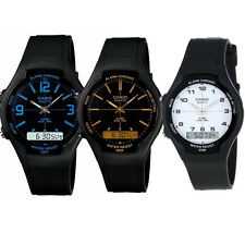 Casio Men's Dual Time Analogue / Digital Rubber Strap Watch AW-90H