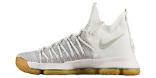 Nike Men's ZOOM KD 9 ELITE Shoes Pale Grey/Ivory 878637-001 NEW