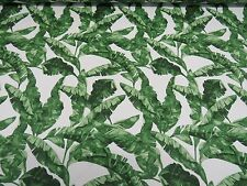 GREEN BANANA LEAVES Cotton Fabric for Curtain Upholstery TROPICAL LEAF