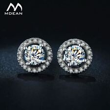 Stud Earrings for Women White Gold Color Jewelry Zircon Round Wedding
