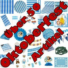 Oktoberfest Wiesn Bayrisch Blau Party Raute Dekoration Bayern Bavaria blau weiss