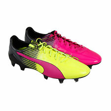 Puma Evospeed 1.5 Tricks Fg Mens Pink Leather Athletic Lace Up Soccer Shoes
