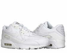 Nike Air Max 90 Leather White/White Men's Running Shoes 302519-113