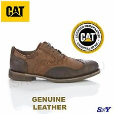 Cat Footwear Brown Leather classic oxfords casual shoe twill lining oxford