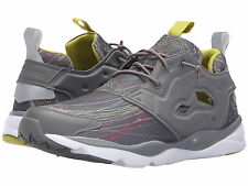 Reebok FURYLITE JS Mens Sneakers Grey Low-Cut Running Shoes Bungee Lace Sne