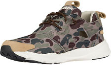 Reebok FURYLITE CAMO Mens Sneakers Green Low-Cut Ultralight Running Shoes N