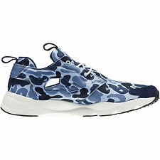 Reebok FURYLITE CAMO Mens Sneakers Blue Low-Cut Ultralight Running Shoes NE