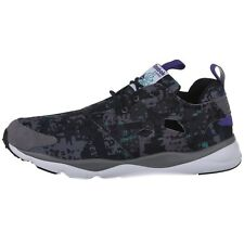 Reebok Mens Furylite Soc Sneakers Grey Black Low-Cut Ultralight Running Sho