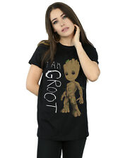Marvel Donna Guardians Of The Galaxy I Am Groot Scribbles Boyfriend T-Shirt Fit