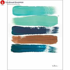 Paint Swatch Line Texture Contemporary Modern Trendy Abstract Painting Brown...
