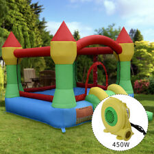 Super Slide Castle Inflatable Mighty Bounce House Moonwalk Jump Castle w/Blower
