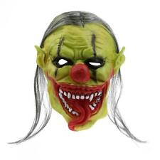 Maschera Creepy Evil Clown Masquerade Halloween Joker Jester Latex Maschera