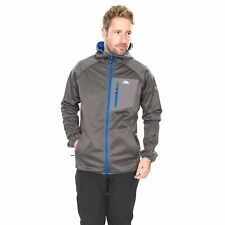 Trespass Dayton Mens Softshell Jacket Waterproof Grey Trekking Camping Coat