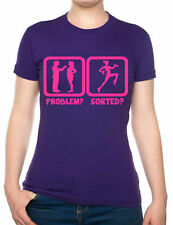Problem Sorted Gone To The Gym Funny Ladies T Shirt  Size S-XXL