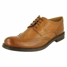 Base London 'Main' Mens Tan Lace Up Leather Brogue Shoes