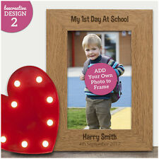 Personalised ENGRAVED Photo Frame My First Day at School Nursery 1st Day Memory