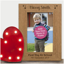 First 1st Day at School PERSONALISED ENGRAVED Photo Frame Keepake Nursery Gifts