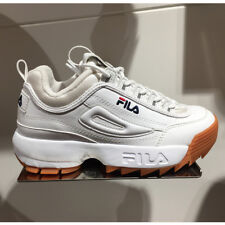 New FILA Womens Disruptor II 2 FS1HTZ3072X WHITE / BROWN UNISEX SIZE TAKSE