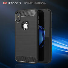 Luxury Carbon Fiber Soft TPU Silicone Thin Case Cover for Apple iPhone 7 Plus 8