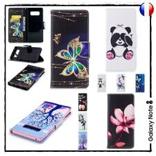 Etui coque housse Porte-cartes Cuir PU Leather case cover Samsung Galaxy Note 8