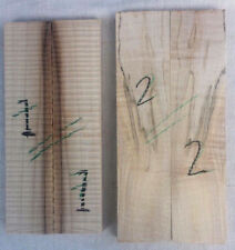 Spalted maple curly grain / ripple bookmatched knife scale / knife handle set