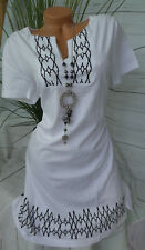 Sheego ROBE LONGUE BLOUSE TUNIQUE gr. 40 - 58 blanc (896) NEUF