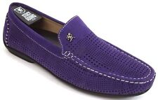 Men's STACY ADAMS Casual Shoes Driving Moccasin Loafers Purple PIPPIN 25089