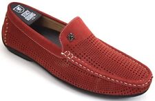 Men's STACY ADAMS Casual Shoes Driving Moccasin Slip On Loafers Red PIPPIN