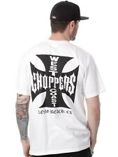 West Coast Choppers White-Black Iron Cross T-Shirt
