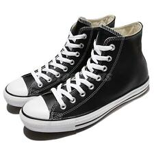 Converse Chuck Taylor HI All Star Black Leather Canvas Sneakers Shoes 132170C