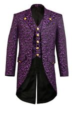 Fency Mens Steampunk Gothic Tailcoat Multi Color Jacket Victorian Style Coat 02
