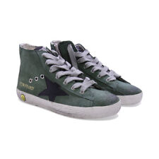 Golden Goose sneakers verdi in camoscio