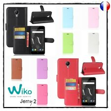Coque Housse Etui Porte cartes Cuir PU Leather Wallet Case Cover WIKO Jerry 2