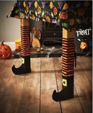 Halloween Witches Table Chair Leg Covers Pub/Restaurant/Work/House Party Orange