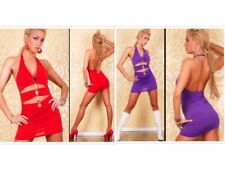 Sexy New Cut Out Halter Clubwear Cocktail Party Evening Mini Dress - In 2 Colour