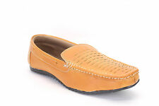 Quarks Men's  Woven look Casual Loafer Shoes - Beige Color - Q1020BE