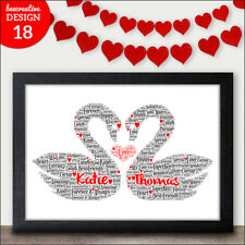 Personalised Cinderella Prince Charming Word Art Gift For Couples Love Gifts